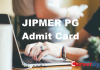jipmer pg admit card